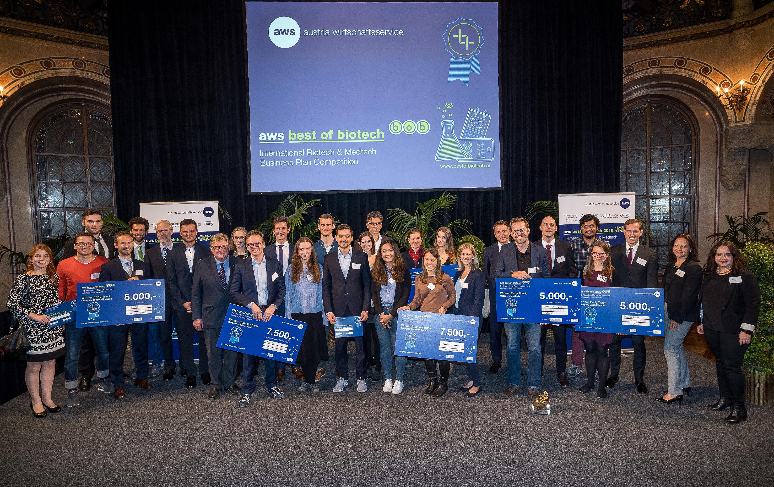 aws Best of Biotech: Auszeichnung der besten Life Science-Geschäftsideen – Gewinner Start up Track, Kategorie Digital Health: MyMind!